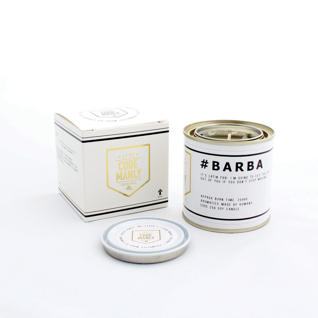 Code Manly Candles - Thunderbolt Gifts